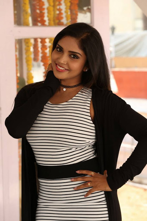Karunya chowdary black and white dress photoshoot pics