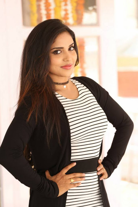 Karunya chowdary black and white dress pics