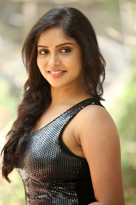 Karunya chowdary black dress beautiful pictures