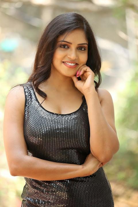 Karunya chowdary black dress cute photos