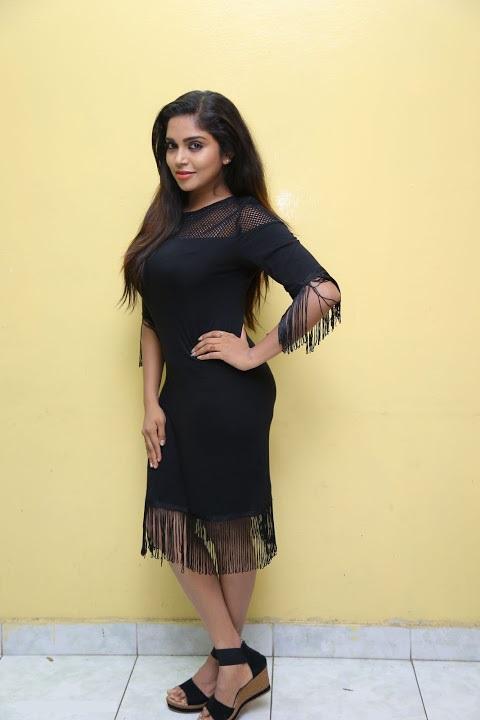 Karunya chowdary desktop photos black dress