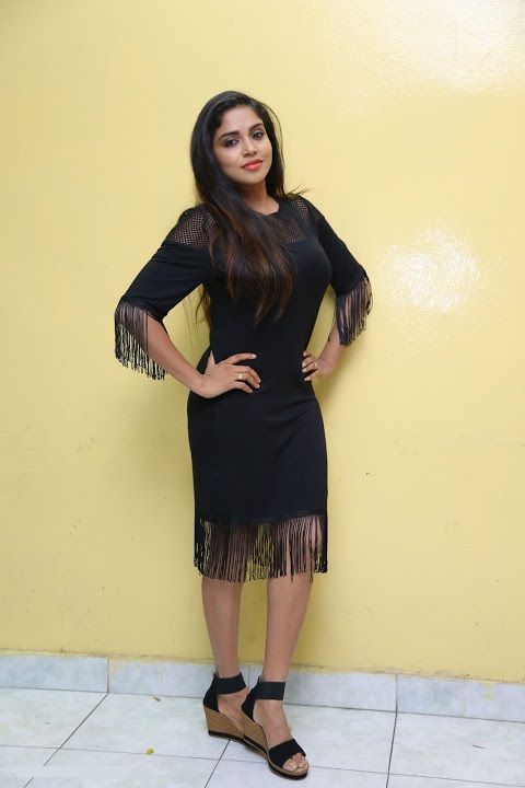 Karunya chowdary hot black dress pictures