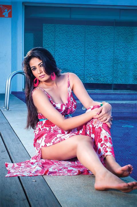 Kavya shetty green red modeling fotos