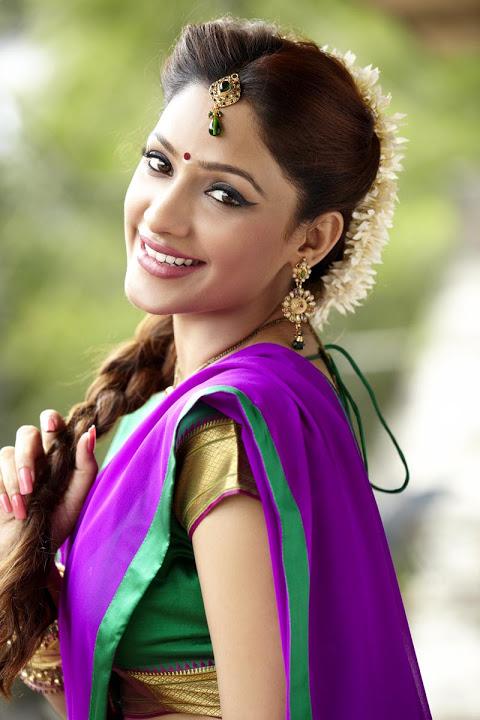 Kesha khambhati half saree smile pose stills