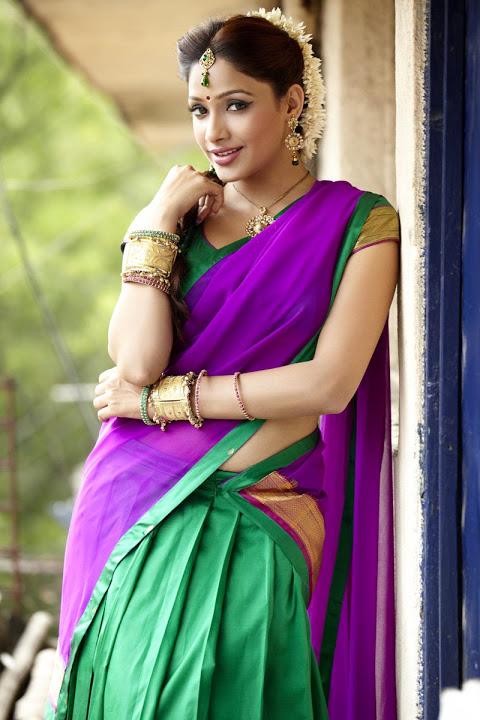 Kesha khambhati half saree wide pics