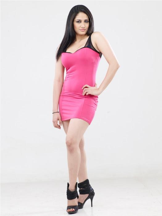 Komal sharma pink dress cute photos