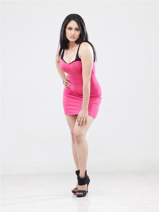 Komal sharma pink dress smile pose slide show