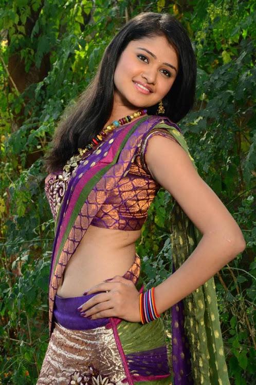 Kowsalya actress purple color dress cute photos