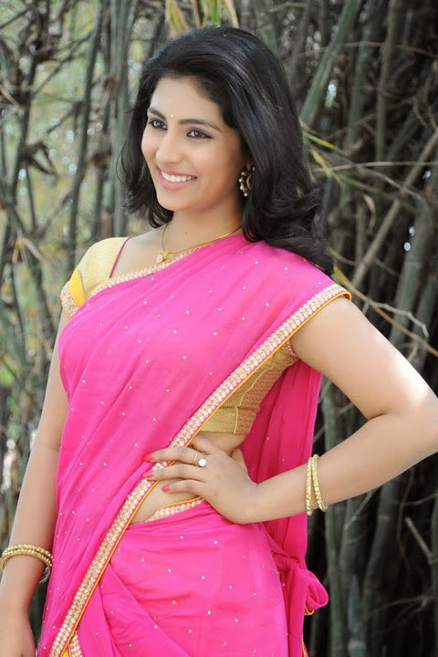 Kruthika jayakumar pink color half saree gallery