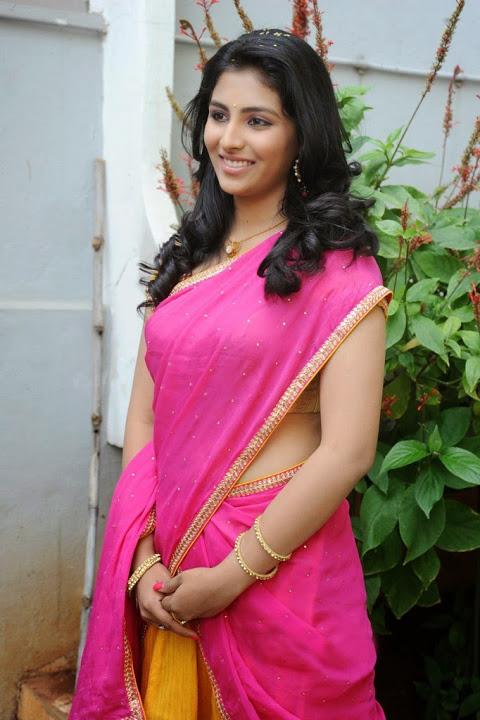 Kruthika jayakumar pink half saree exclusive photos
