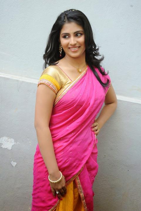 Kruthika jayakumar pink half saree modeling stills
