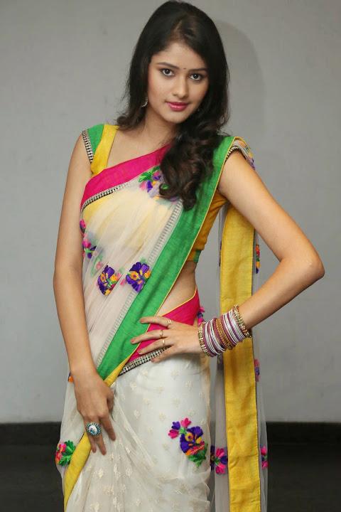 Kushi heroine glamorous saree fotos