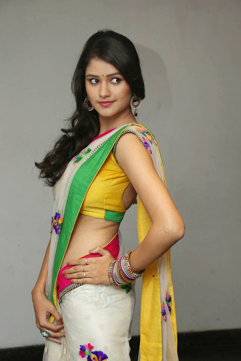 Kushi heroine interview saree gallery