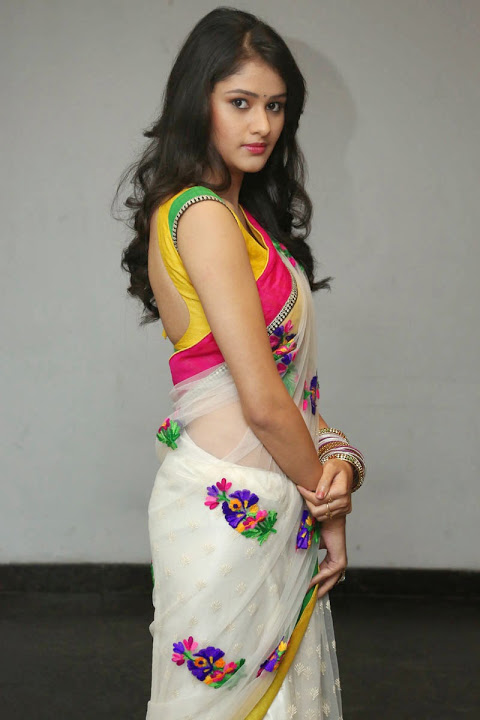 Kushi heroine smile pose slide show saree