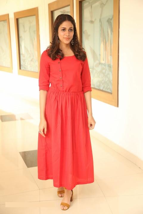 Lavanya tripathi red dress exclusive photos