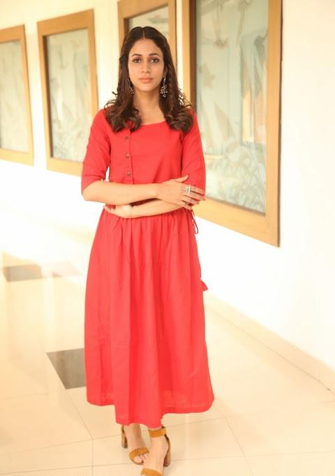 Lavanya tripathi red dress hot hd wallpaper