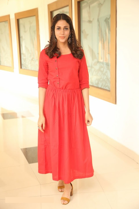 Lavanya tripathi red dress photoshoot image