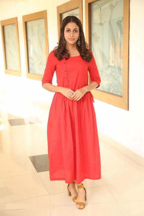 Lavanya tripathi red dress wide pics