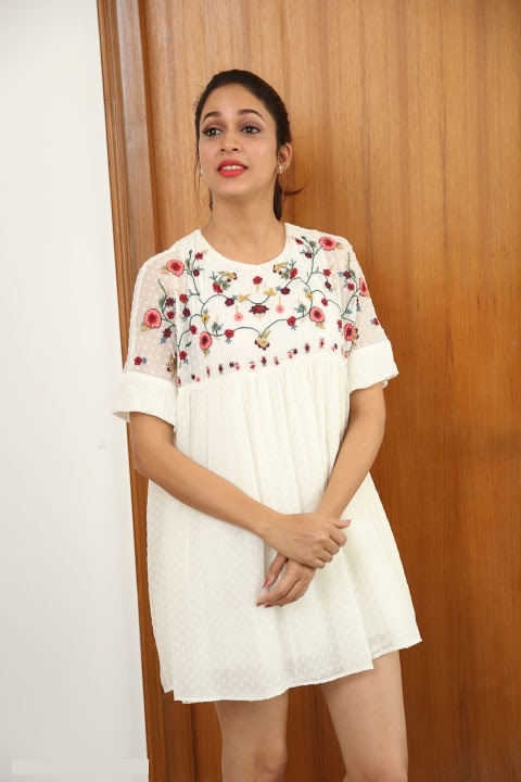 Lavanya tripathi white dress fashion image