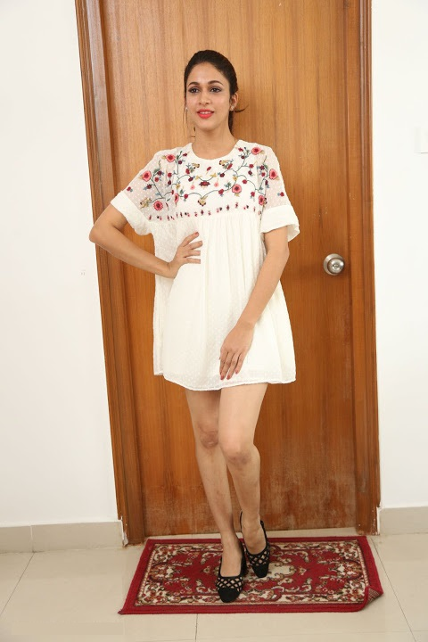 Lavanya tripathi white dress modeling pics
