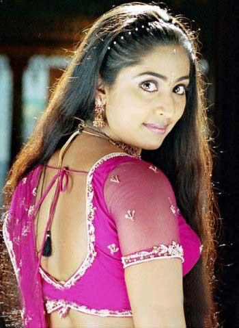 Navya nair back side saree photos