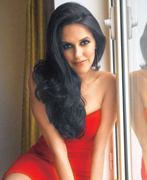 Neha dhupia red dress pictures
