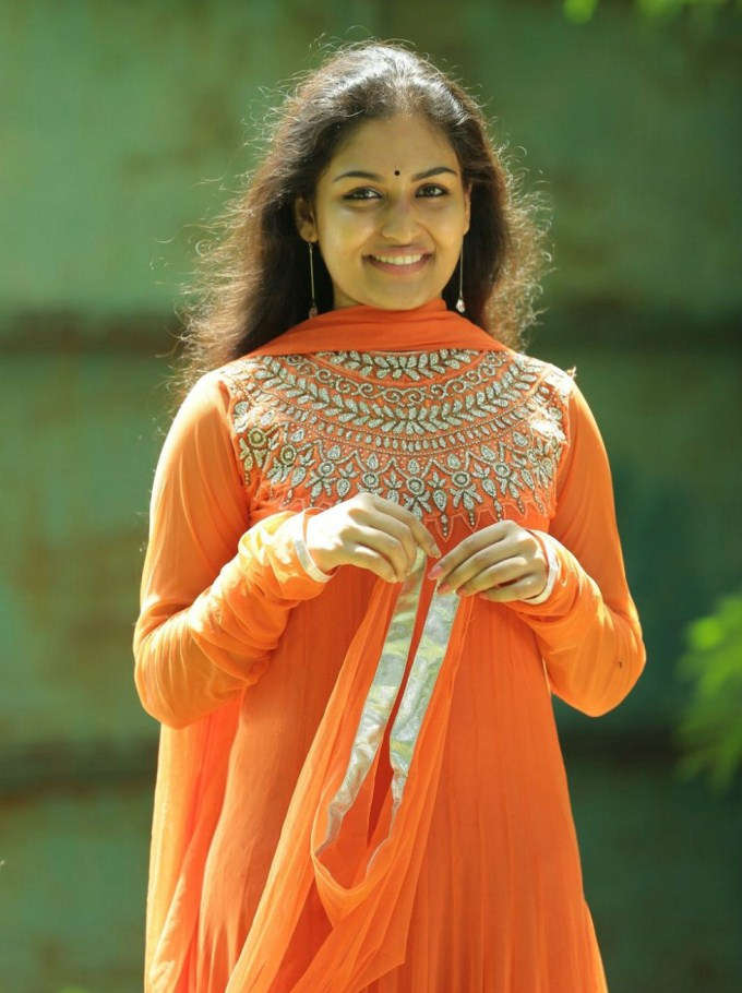 Prayaga martin orange dress pics