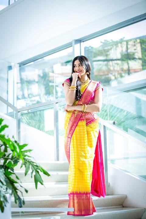 Adah sharma saree figure image
