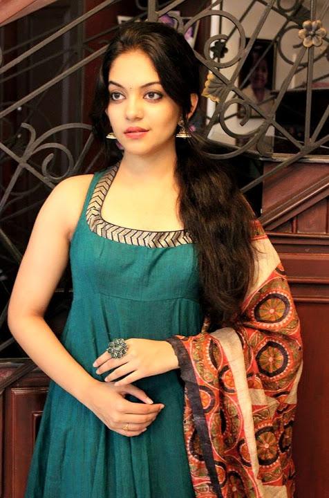 Ahaana krishna green color dress stills