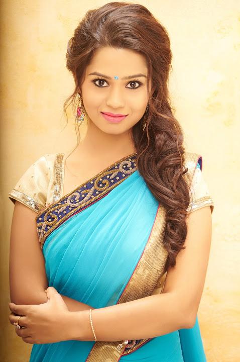 Aishwariya light blue color saree image