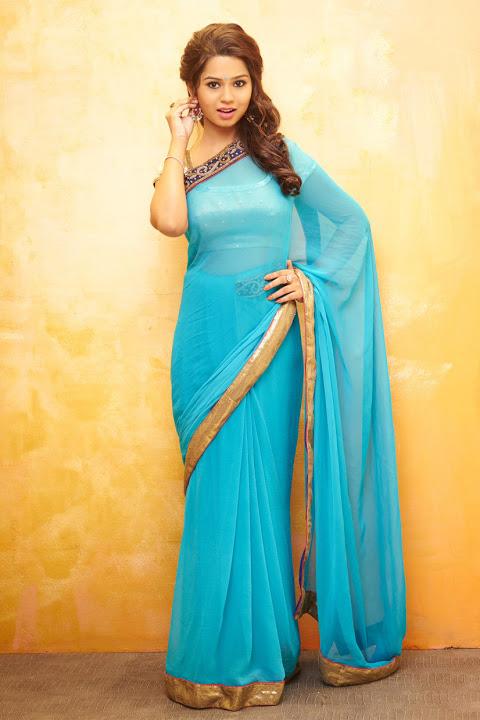 Aishwariya light blue color saree photos