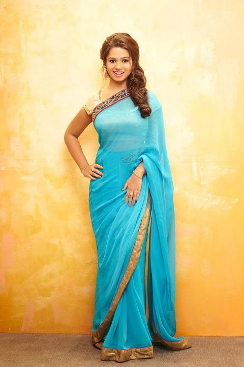 Aishwariya light blue color saree pictures