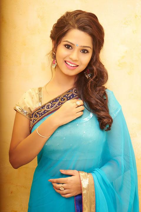 Aishwariya light blue color saree wallpaper