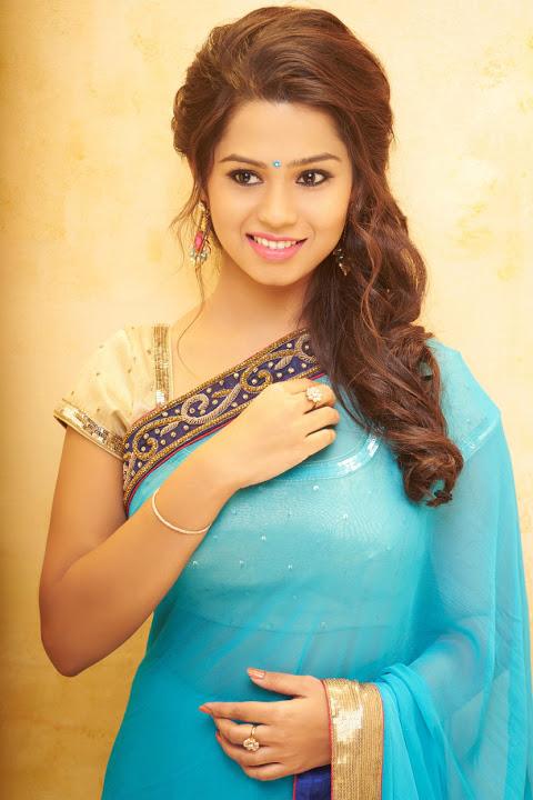 Aishwariya light blue color saree