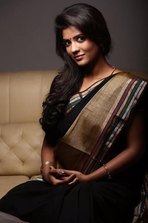 Aishwarya rajesh black saree pictures