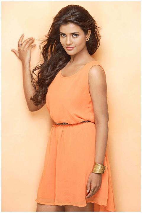 Aishwarya rajesh orange color dress pictures