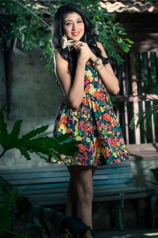 Akhila kishore green color dress photos