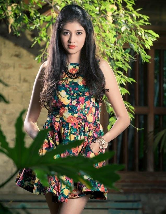 Akhila kishore green color dress wallpaper