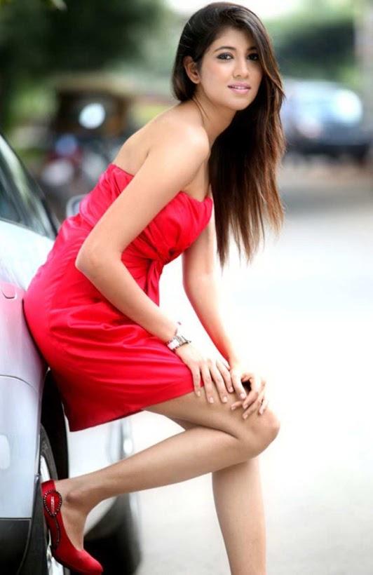 Akhila kishore red color dress images