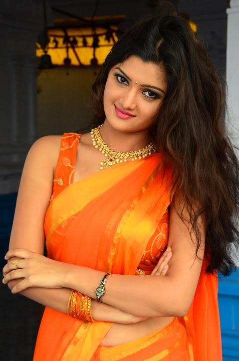 Akkshita orange color saree unseen pictures