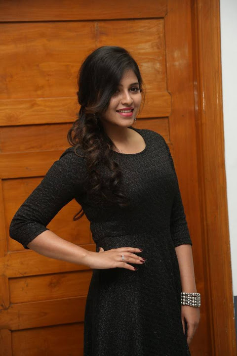 Anjali black color dress beautiful pictures