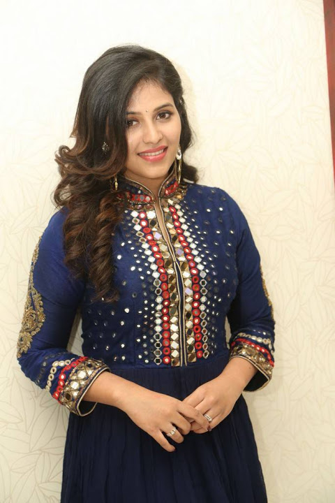Anjali blue color dress figure wallpaper