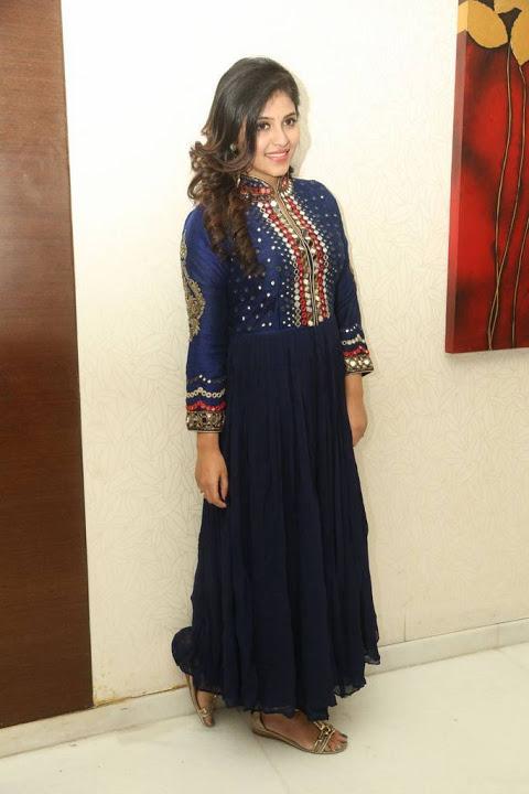 Anjali blue dress glamour image