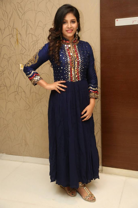 Anjali blue dress pictures