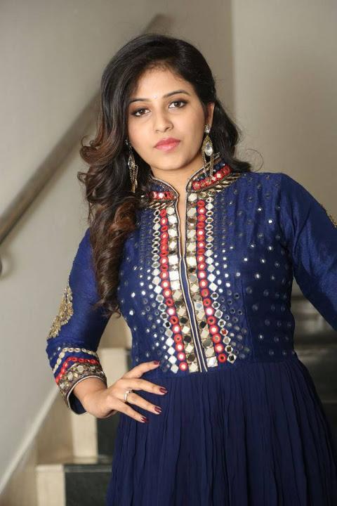 Anjali blue dress unseen pics