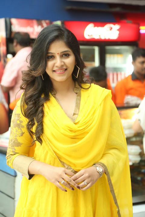 Anjali yellow color dress glamorous photos