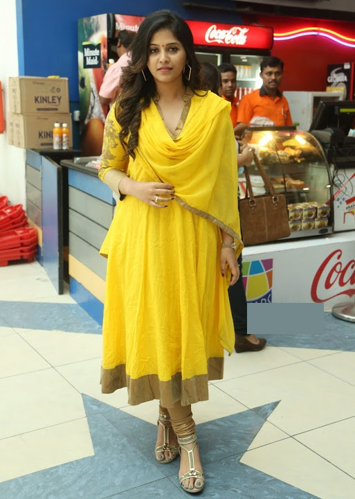 Anjali yellow color dress pictures