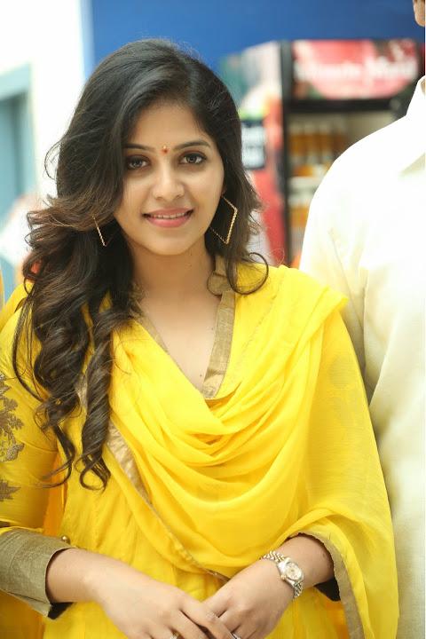 Anjali yellow color dress press meet image