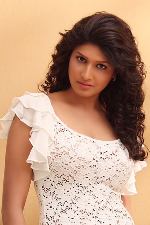Anjana tamil actress white dress pictures