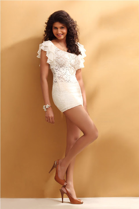 Anjana white dress fashion image